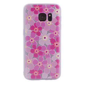 TPU чехол матовый soft touch color для Samsung G930F Galaxy S7 (Гортензии)