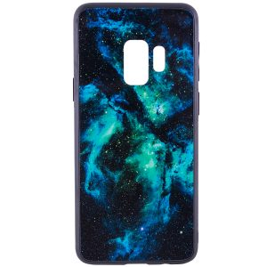 TPU+Glass чехол Космос для Samsung Galaxy S9 (Green)