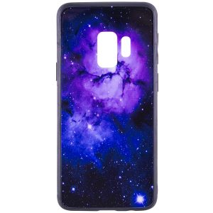 TPU+Glass чехол Космос для Samsung Galaxy S9 (Purple)