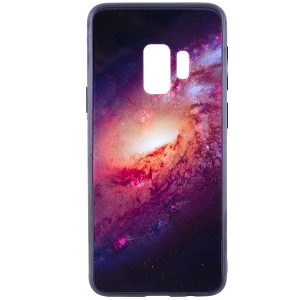 TPU+Glass чехол Космос для Samsung Galaxy S9 (Rose)