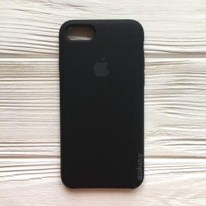 Оригинальный чехол Silicone Case с микрофиброй для Iphone 7 / 8 / SE (2020) №7 (Black)