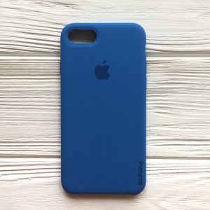 Оригинальный чехол Silicone Case с микрофиброй для Iphone 7 / 8 / SE (2020) №12 (Blue)