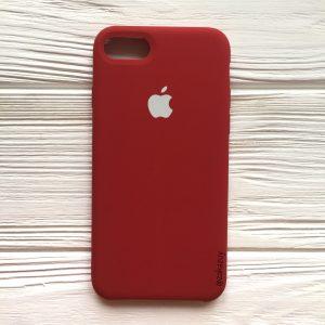 Оригинальный силиконовый чехол (Silicone case) для Iphone 7 / 8 (Burgundy) №26