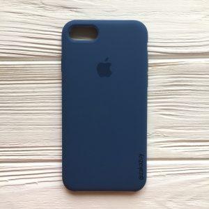 Оригинальный силиконовый чехол (Silicone case) для Iphone 7 / 8 (Dark Blue) №22