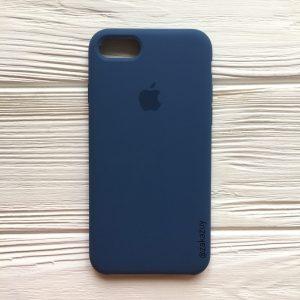 Оригинальный чехол Silicone Case с микрофиброй для Iphone 7 / 8 №22 (Dark Blue)