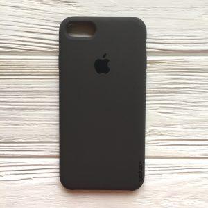 Оригинальный чехол Silicone Case с микрофиброй для Iphone 7 / 8  №19 (Dark Brown)