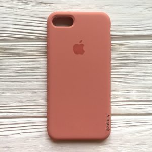 Оригинальный чехол Silicone Case с микрофиброй для Iphone 7 / 8 / SE (2020) №25 (Flamingo)