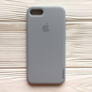 Оригинальный силиконовый чехол (Silicone case) для Iphone 7 / 8 (Light Blue) №33