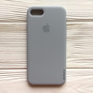 Оригинальный чехол Silicone Case с микрофиброй для Iphone 7 / 8 / SE (2020) №33 (Light Blue)