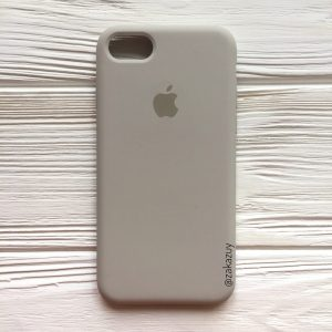 Оригинальный чехол Silicone Case с микрофиброй для Iphone 7 / 8 / SE (2020) №16 (Light cocoa)