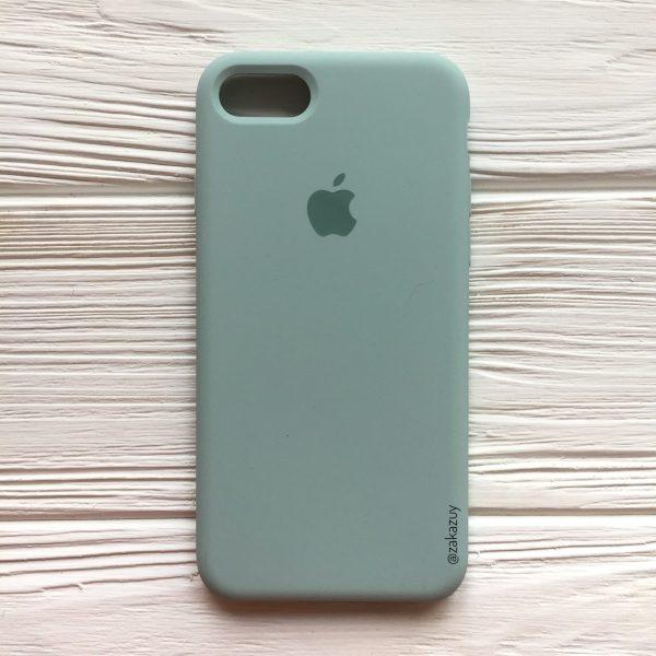 Оригинальный чехол Silicone Case с микрофиброй для Iphone 7 / 8 / SE (2020) №21 (Light Mint)