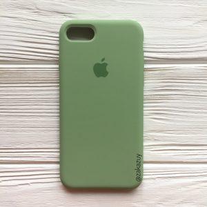 Оригинальный чехол Silicone Case с микрофиброй для Iphone 7 / 8 №10 (Light Green)