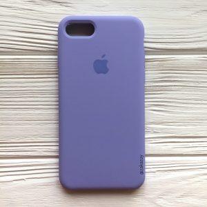 Оригинальный чехол Silicone Case с микрофиброй для Iphone 7 / 8 №39 (Lilac)