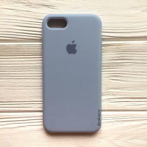 Оригинальный чехол Silicone Case с микрофиброй для Iphone 7 / 8 №15 (Lilac cream)