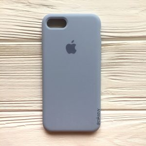 Оригинальный чехол Silicone Case с микрофиброй для Iphone 7 / 8 / SE (2020) №15 (Lilac cream)