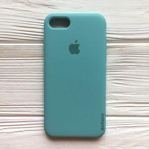 Оригинальный чехол Silicone Case с микрофиброй для Iphone 7 / 8 №23 (Mint)