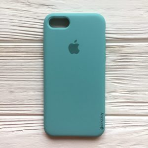 Оригинальный чехол Silicone Case с микрофиброй для Iphone 7 / 8 / SE (2020) №23 (Mint)
