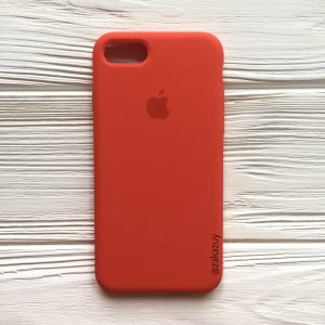 Оригинальный чехол Silicone Case с микрофиброй для Iphone 7 / 8 / SE (2020) №18 (Orange)