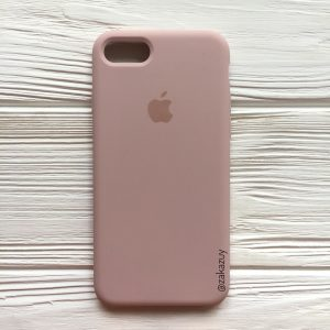 Оригинальный силиконовый чехол (Silicone case) для Iphone 7 / 8 (Powder) №8