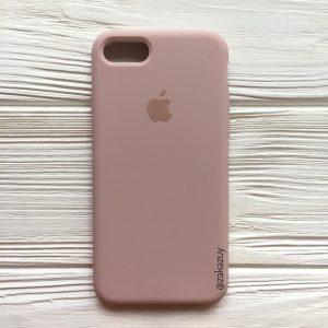 Оригинальный чехол Silicone Case с микрофиброй для Iphone 7 / 8 №8 (Powder)