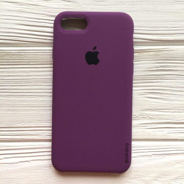 Оригинальный чехол Silicone Case с микрофиброй для Iphone 7 / 8 / SE (2020) №28 (Purple)