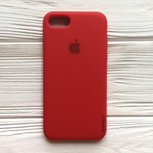 Оригинальный силиконовый чехол (Silicone case) для Iphone 7 / 8 (Red) №5
