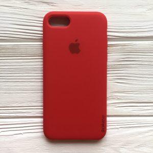 Оригинальный чехол Silicone Case с микрофиброй для Iphone 7 / 8 №5 (Red)