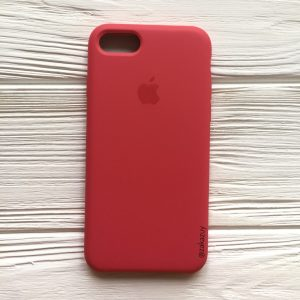 Оригинальный чехол Silicone Case с микрофиброй для Iphone 7 / 8 / SE (2020) №40 (Rose)