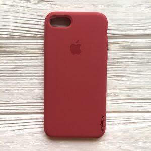 Оригинальный силиконовый чехол (Silicone case) для Iphone 7 / 8 (Rouge) №24