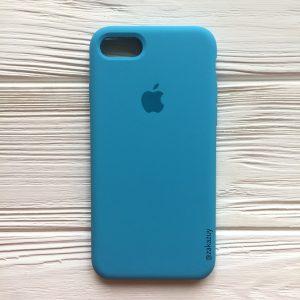 Оригинальный силиконовый чехол (Silicone case) для Iphone 7 / 8 (Royal Blue) №20