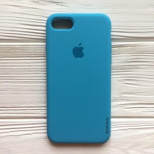Оригинальный чехол Silicone Case с микрофиброй для Iphone 7 / 8 / SE (2020) №20 (Royal Blue)