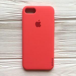 Оригинальный силиконовый чехол (Silicone case) для Iphone 7 / 8 (Ultra Coral) №31