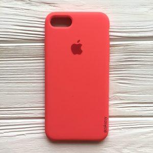 Оригинальный чехол Silicone Case с микрофиброй для Iphone 7 / 8 №31 (Ultra Coral)