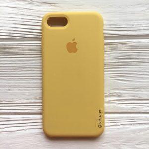 Оригинальный силиконовый чехол (Silicone case) для Iphone 7 / 8 (Yellow) №13
