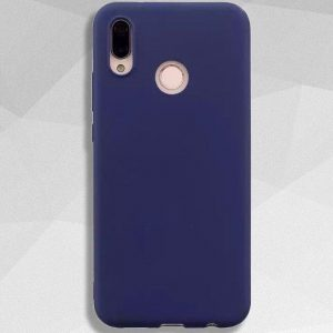 Матовый силиконовый TPU чехол Soft Touch на Huawei P Smart Plus / Nova 3i (Navy Blue)