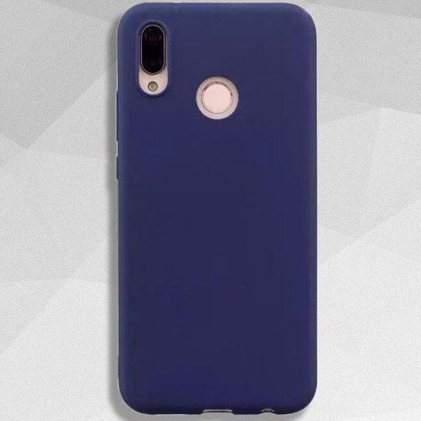 Матовый силиконовый TPU чехол на Huawei P Smart Plus / Nova 3i (Синий)