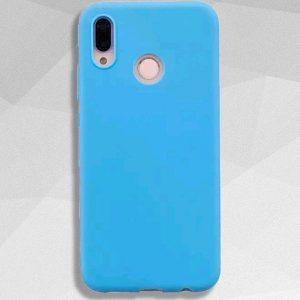 Голубой матовый силиконовый (TPU) чехол (накладка) Soft Touch для Huawei P Smart Plus / Nova 3i (Blue)