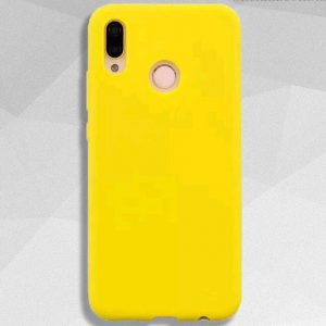 Матовый силиконовый TPU чехол на Huawei P Smart Plus / Nova 3i (Yellow)