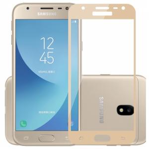 Защитное стекло 2.5D (3D) Full Cover на весь экран для Samsung Galaxy J3 2016 (J310 / J320) – Gold