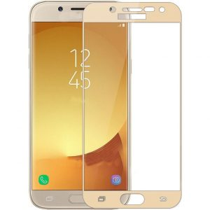 Защитное стекло 2.5D (3D) Full Cover на весь экран для Samsung Galaxy J3 2017 (J330) – Gold