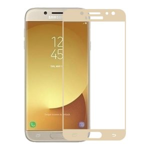 Защитное стекло 2.5D (3D) Full Cover на весь экран для Samsung Galaxy J7 2017 (J730) – Gold