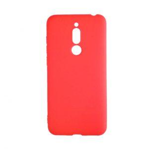 Матовый силиконовый TPU чехол на Meizu M6T (Red)