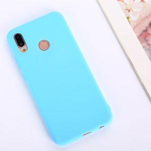 Мятный матовый силиконовый (TPU) чехол (накладка) Soft Touch для Huawei P Smart Plus / Nova 3i (Mint)