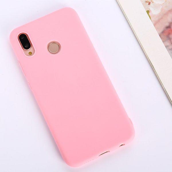 Розовый матовый силиконовый (TPU) чехол (накладка) Soft Touch для Huawei P Smart Plus / Nova 3i (Pink)