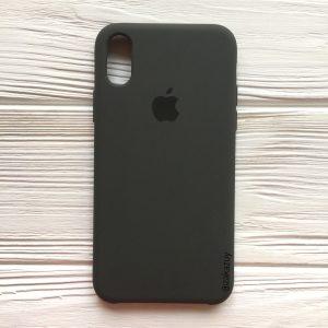 Оригинальный чехол Silicone Case с микрофиброй для Iphone X / XS №3 (Grey)
