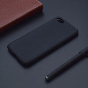 Матовый силиконовый TPU чехол на Huawei Y5 (2018) / Y5 Prime (2018) / Honor 7A (Black)