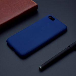 Матовый силиконовый TPU чехол на Huawei Y5 (2018) / Y5 Prime (2018) / Honor 7A (Синий)