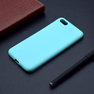 Матовый силиконовый TPU чехол на Huawei Y5 (2018) / Y5 Prime (2018) / Honor 7A (Бирюзовый)