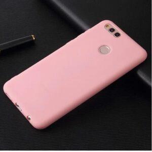 Матовый силиконовый TPU чехол на Huawei Honor 7x (Розовый)