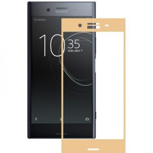 Защитное стекло 3D Full Cover на весь экран для Sony XZ / XZs – Gold